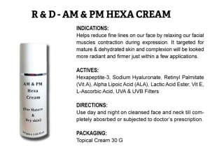 R & D AM & PM Hexa Cream