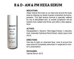 R & D AM & PM Hexa Serum