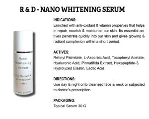 R & D Nano Whitening Serum