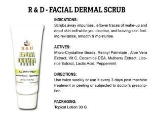 R & D Facial Dermal Scrub