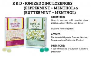 R & D Ionized Zinc Lozenges