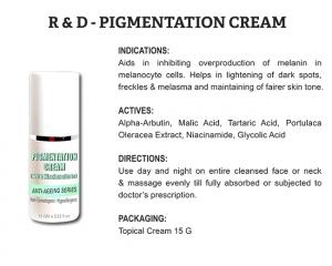 R & D Pigmentation Cream