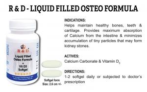 R & D Liquid Filled Osteo Formula